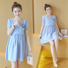 New Maternity Nursing Dress for Pregnant Women Clothing 2016 Summer Fashion Breastfeeding Skirt Pregnancy Clothes Lactation B57