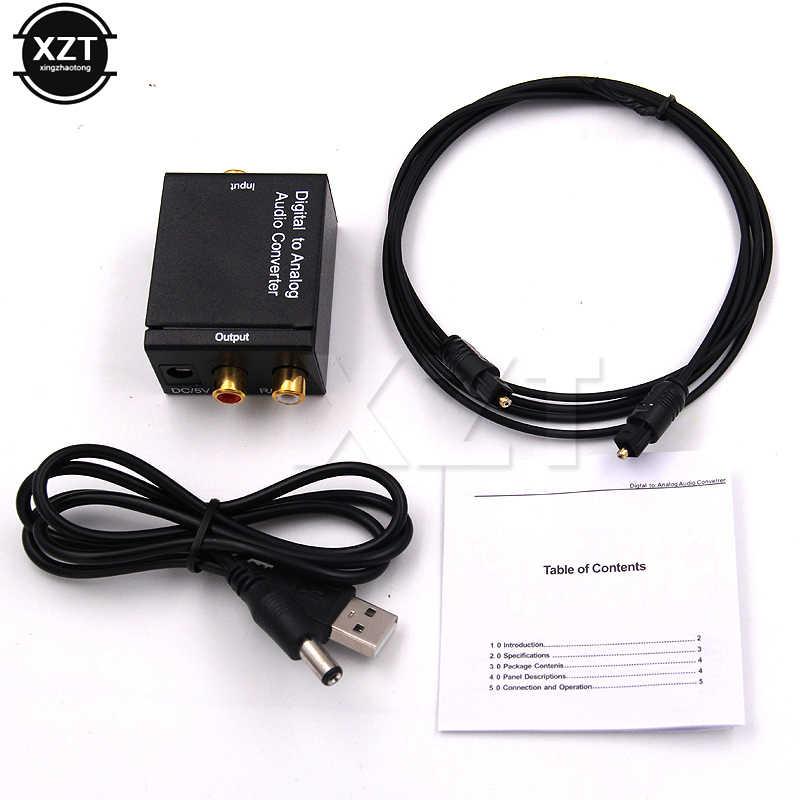 1 шт. 3.5 мм цифро-аналоговый адаптер оптический Волокно оптический коаксиальный Toslink RCA аудио сигнала Adaptador конвертер Новый
