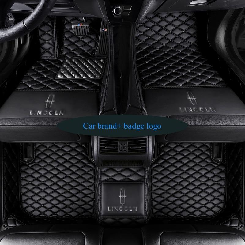 Car floor mats for Tesla logo Model S ModelX fit Jaguar F-PACE F-TYPE XF XJ XE for Alfa Romeo Stelvio Giulia car-styling carpet все цены