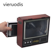 1PCS 3D Phone Screen Magnifier Stereoscopic Amplifying Desktop Bracket Carton Mobile Holder Tablet Mini TV
