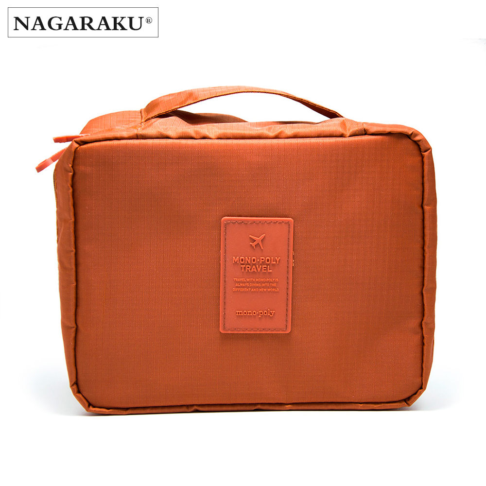 NAGARAKU cosmetic bag for nail and eyelash extension(bag only ,not including tools) make up tools bag container orange bag