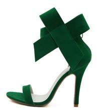 Bowknot Faux Suede Wedding Shoes Women High Heel Open Toe Pumps Stiletto Women Fantasy Big Bowtie Butterfly  Sandals Plus Size