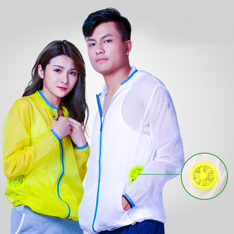 Air Conditioning Clothes Sun Protection Clothing with Fan Cooling Jacket Outdoor High Temperature Working Fishing HuntingAir Conditioning Clothes Sun Protection Clothing with Fan Cooling Jacket Outdoor High Temperature Working Fishing Hunting