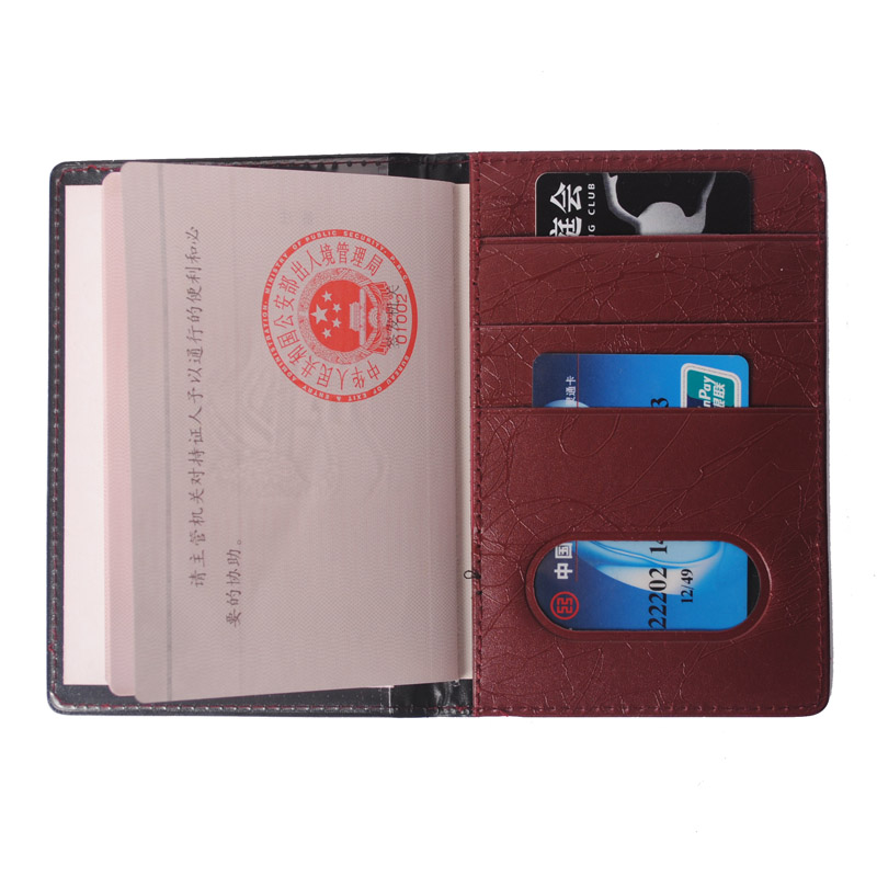 KUDIAN BEAR Leather Russian Passport Cover Business Case Fashion Designer Credit Card Holder Passport Holder BIH006 PM49 in Card ID Holders from Luggage Bags