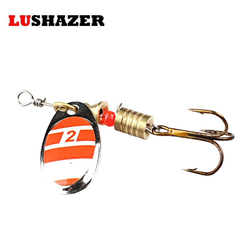 LUSHAZER Fishing spinner bait 2.5-4.5g spoon lure metal baits treble hook isca artificial fish wobbler feeder carp spinnerbait 1 pack clean dry maggots for fishing high protein nutritious fish bait food winter carp fishing baits