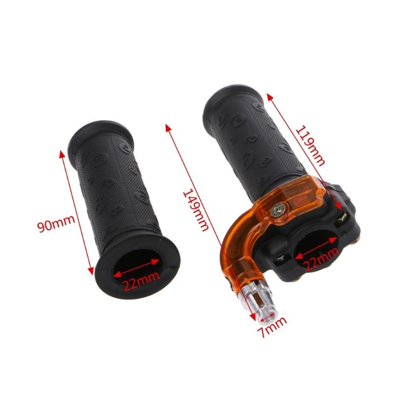 Twist Throttle Accelerator 3 stage Grip + Cable For 47cc 49cc Mini Dirt Bike Quad Pocket