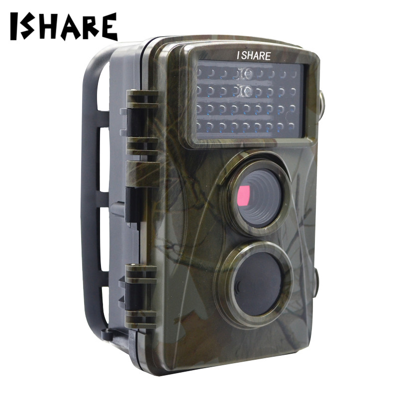 ISHARE HD 1080P Waterproof Hunting Camera 12MP 20M Infrared Trail Scouting Wildlife Night Vision Trail Camera Outdoor Monitor 12mp trail camera gsm mms gprs sms scouting infrared wildlife hunting camera hd digital infrared hunting camera