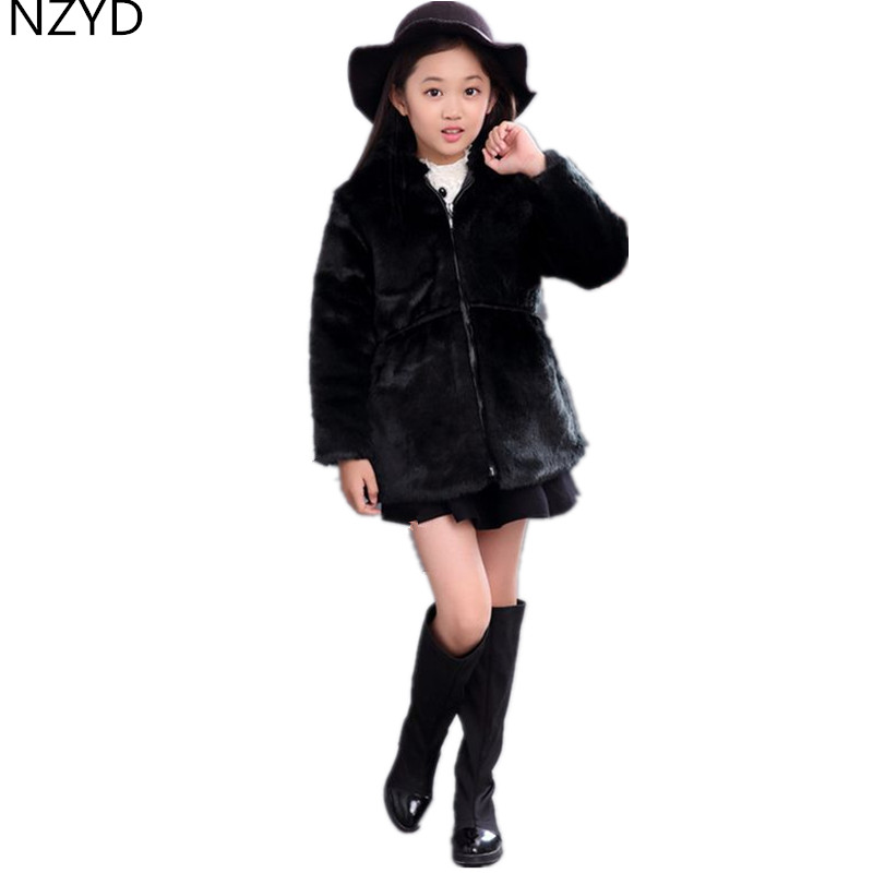 2017 New Fashion Winter Girls Coat Thick warm Hooded Kids Cotton-Padded Clothes Pure Color Casual Children Jacket Clothing DC512 new korean version winter children s clothing baby girls thick fur collar hooded coat fashion casual children cotton warm coat