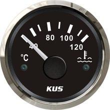 KUS 52mm Auto Boot Wasser Temperatur Gauge 40-120 Grad Wasser Temp Meter Gauge mit Gelb/Rot hintergrundbeleuchtung