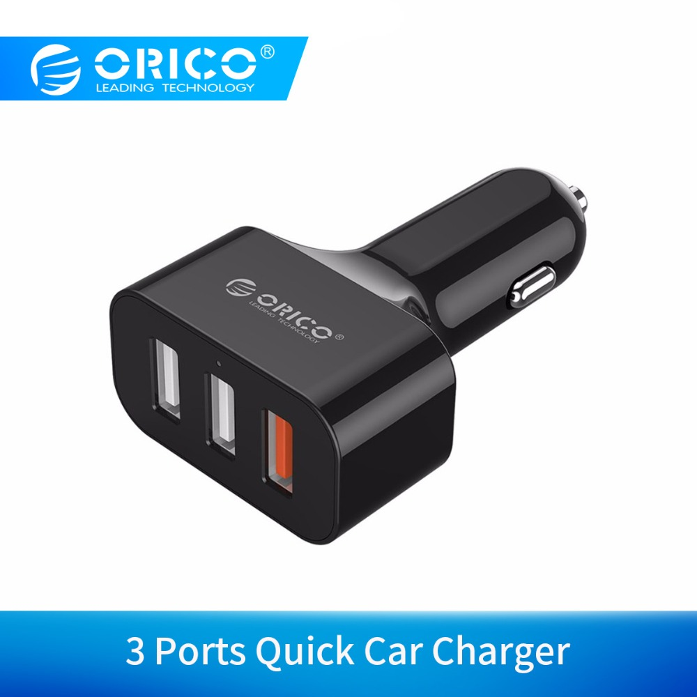 ORICO QC2.0 3 Port USB Car Charger for Smartphones and