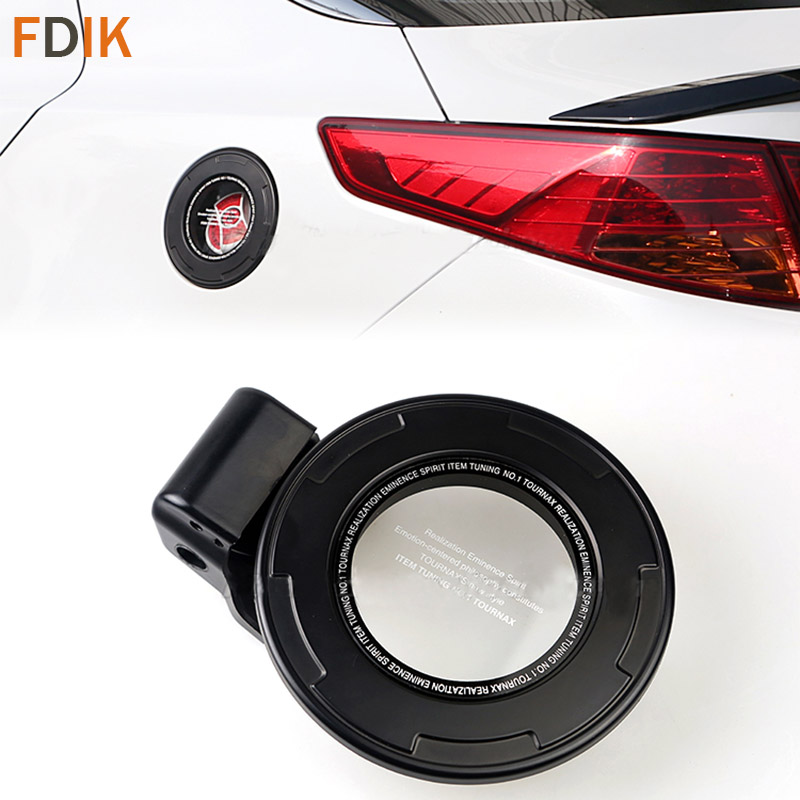 Sport Racing F1 style Black Clear Tank Fuel Cap Gas Oil Cover for Kia K5 2011 2012 2013 2014 2015