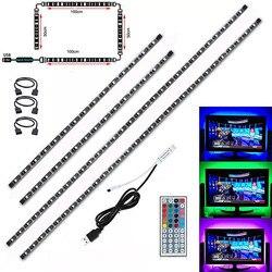 Водонепроницаемая светодиодная лента 4x50 см, 2x50 см, 2x100 см, 5 В, USB, RGB, светодиодная лента 5050 SMD, светодиодная волшебная лента для подсветильник ...