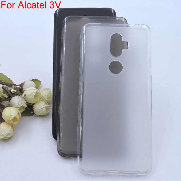 For Alcatel 3V phone Cover Bag Case capa,For Alcatel3V Soft TPU full  protective case back guard shell