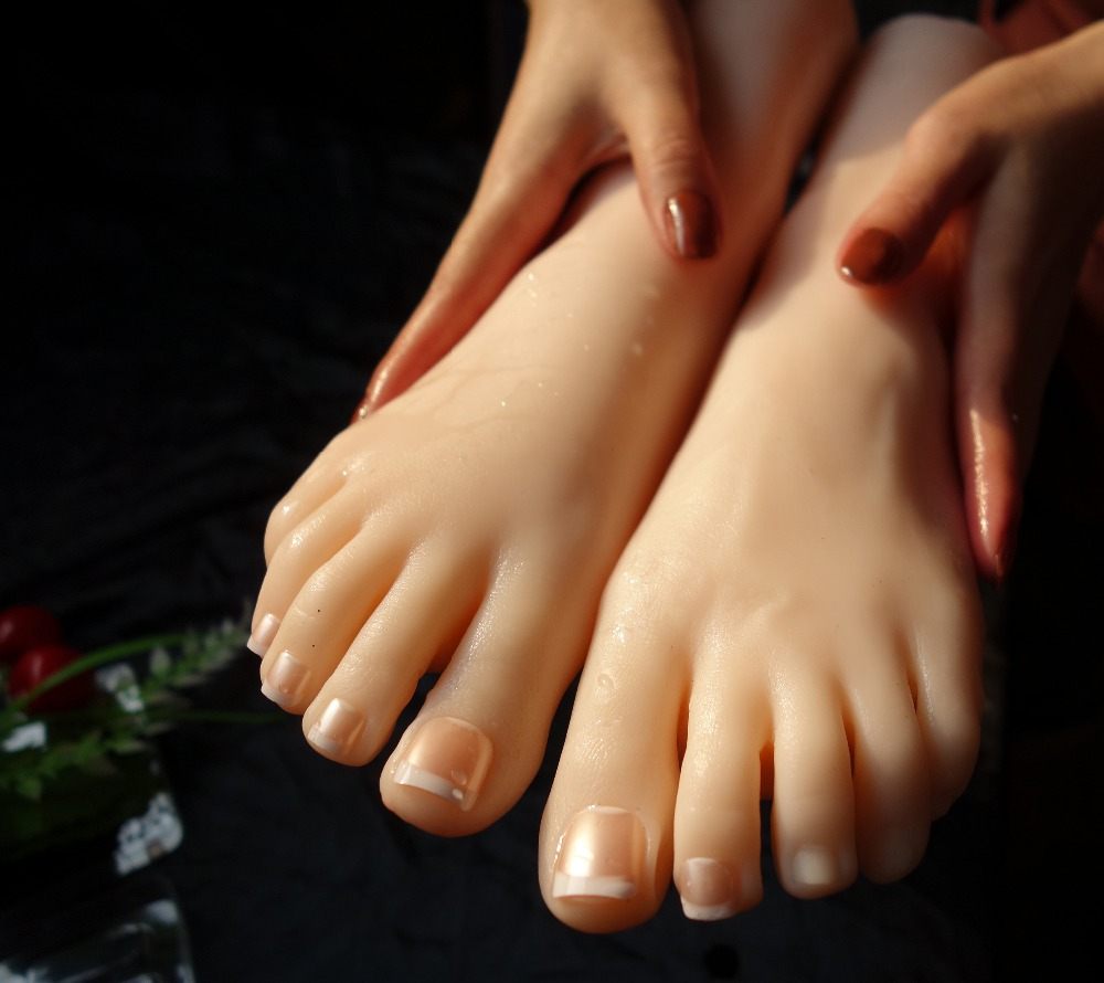 Silicone foot Fetish realistic real full font b sex b font machines japaneseilicone feet model font