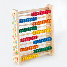 Free shipping Teaching Resources Wooden 10stalls abacus children s early education math learning calculation child s