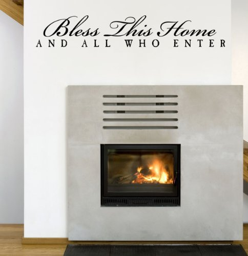 Free shipping: Bless This Home And All Who Enter Vinyl Wall Art Decal House Decor Entryway Wall Stickers Home Decor