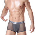 Brand new Mens Thin Underwear Sexy Man Middle Waist Boxers Male Gay Breathable transparent underpants
