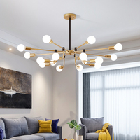 2019 Model French Empire Gold Crystal Chandelier Black Chandeliers Lighting Modern Chandeliers Light 220v Shadeless Lights