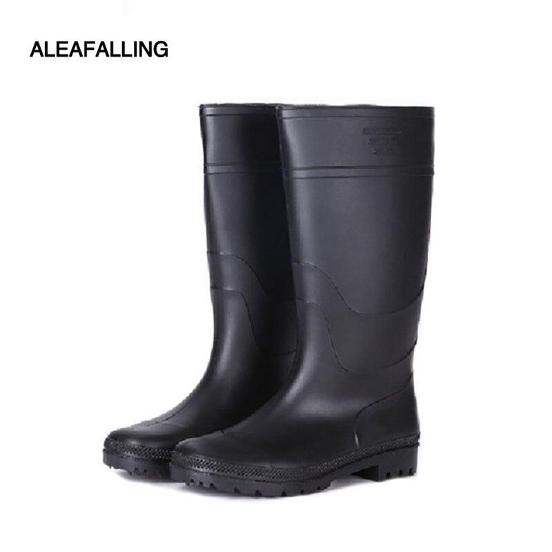 Black PVC Plain Toe Waterproof Slip