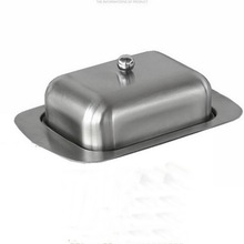 Caja con Cubierta de mantequilla de acero inoxidable 304 placa platos de mantequilla merienda