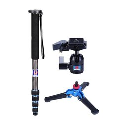 Manbily Camera Monopod C-222+M-1 base+M-10 Ball head Kits Camera Stabilizer Tripod Walking Stick 65 For Canon Nikon DSLR