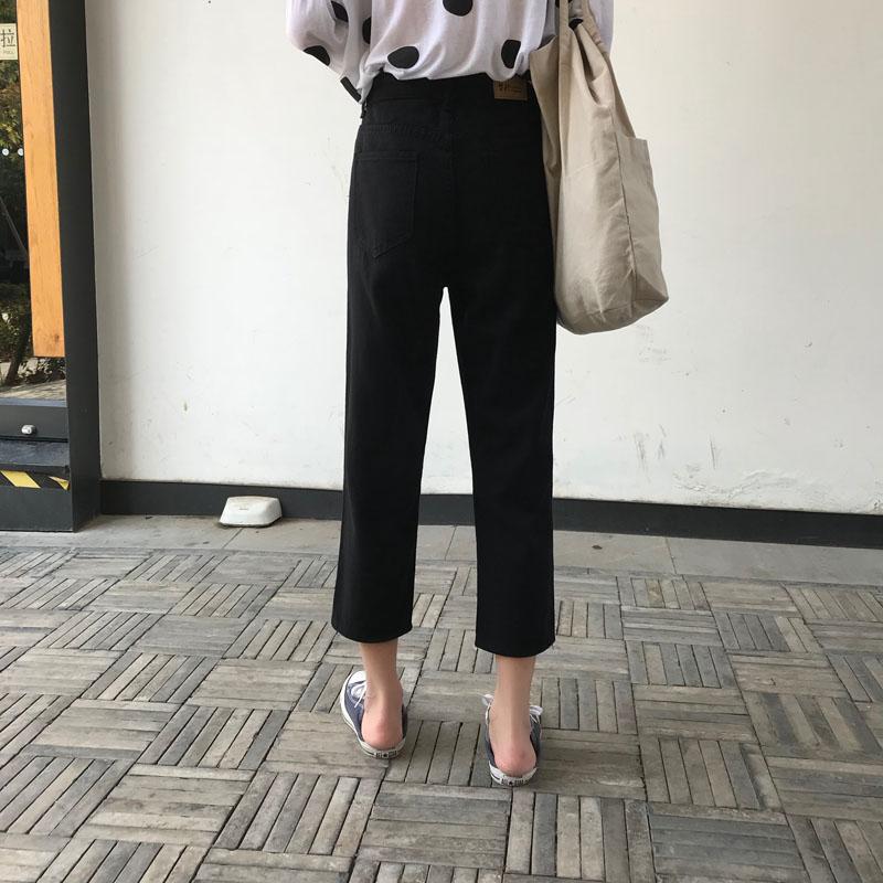 Vaqueros En Otoño Denim Pantalones Invierno Para Agujeros Nuevo Niñas Jeans 2018 Pengpious Mujer Las Rodillas Crooped qgv6x