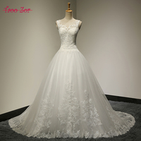 TaooZor 2018 Gorgeous Ball Gown Wedding Dress With Lace Vestido De Novia Princesa Vintage Wedding Dresses