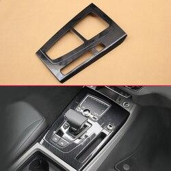 In Fibra di carbonio Look Auto Gear Shift Pannello di Copertura Per Audi Q5 FY LHD 2017 2018 2019 Stampaggio Accessori Overlay