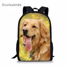 ELVISWORDS Fashion Kids Backpack Labrador Prints Pattern Children Book Bags Toddler School Kawaii Animal Travel