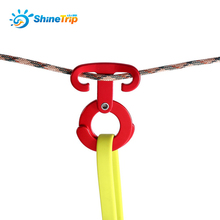 Hook Stopper Hanger Rope-Buckle Carabiner-Tensioner Tent Wind-Rope Aluminium Alloy 4pcs