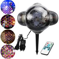 US/EU/UK/AU Plug Star Love Heart shape Indoor Outdoor Christmas festival holiday happy new year Remote Led Light Projector lamp