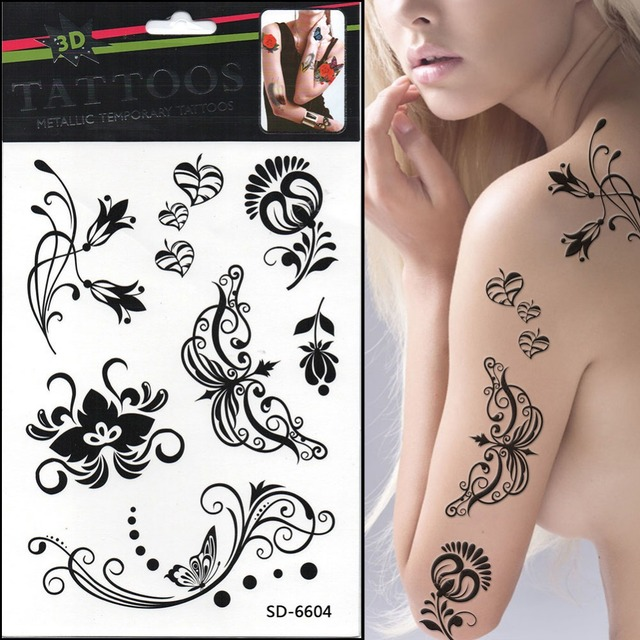 Small Hand Tattoos Henna Tattoo Paste Waterproof Temporary Tatts ...