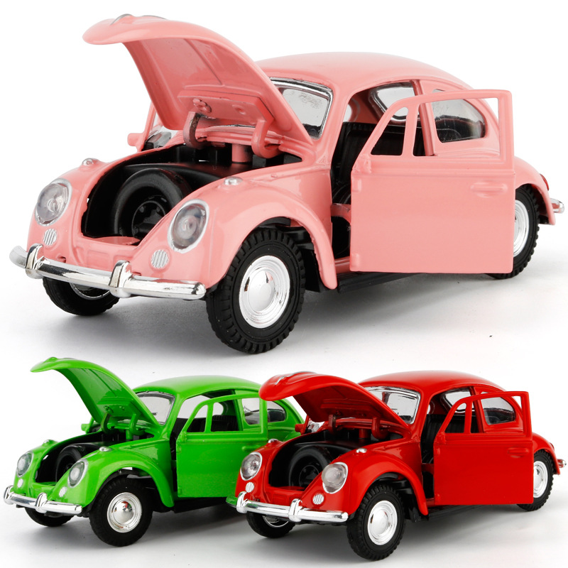 1:36 Alloy Diecast Pull Back Car Toy Simulation Beetle Car Model Toy Car Model Ornament Gift For Kids Creative Cake Decorations