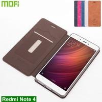 Xiaomi Redmi Note 4 Case Coque Original Mofi PU Leather Case For Xiaomi Redmi Note 4