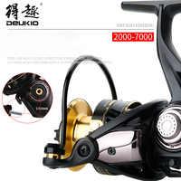 DEUKIO Fishing Reel Gapless Spinning Wheel Screw-in Sea Bream Wheels Fishing Accessories Pesca CS2000-7000 Sea Fishing Rod Reels