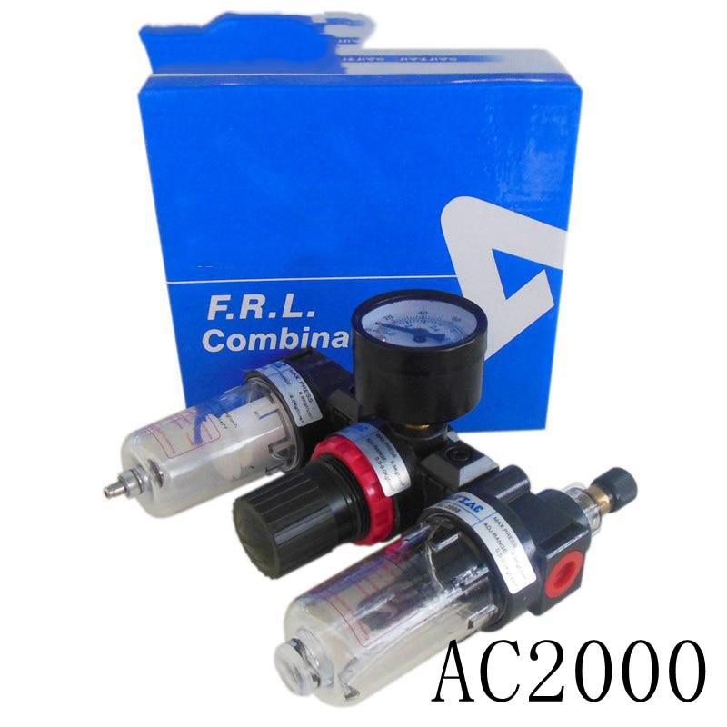 5pcs Airtac AC2000 Air Source Treatment Units,1/4 F.R.L Combination Three Union free shipping bc series three point combination 1 2 air source treatment unit bc4000 three units