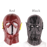 Vinil cola cravo máscara completa rosto cosplay do flash preto hollaween partido máscara assustador para férias masquerade máscaras realistas