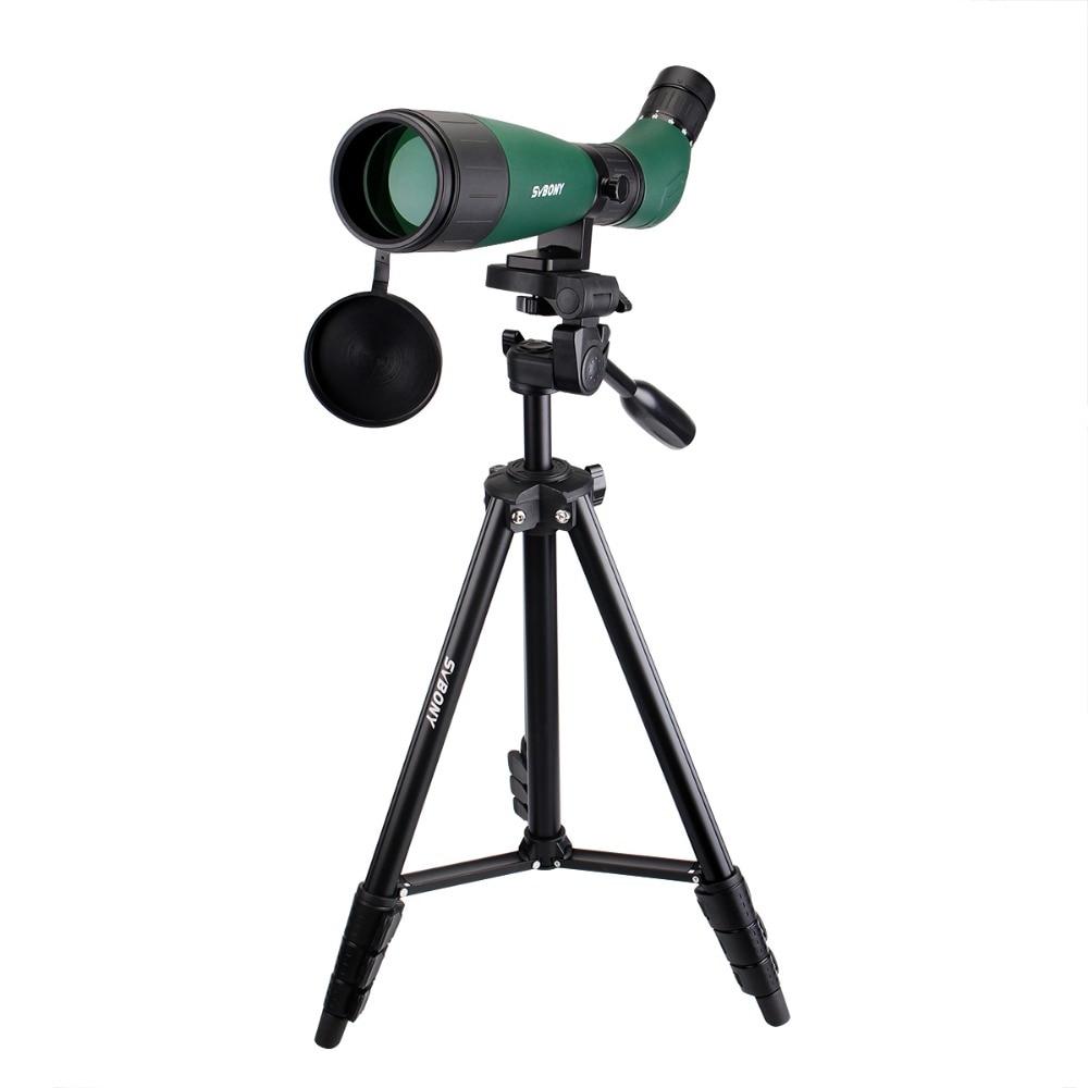 SVBONY SV18 Spotting Scope 20-60x60 Monocular Telescope Compact Shooting Hunting Archery Birdwatch with 54'' Long Tripod F9327 new spotting scope birdwatch monocular