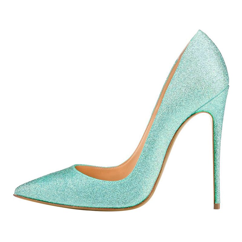 New Spring Princess Classic Gold Sliver Pink Women Pumps Sweet Sequins Shoes Pointed Toe Female High Heels Shoes C009A