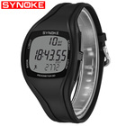 SYNOKE Mens Digital Watches Men Sport Fitness Watch Mens Fashion Pedometer Calorie Waterproof Silicone Led Watch Men Watches