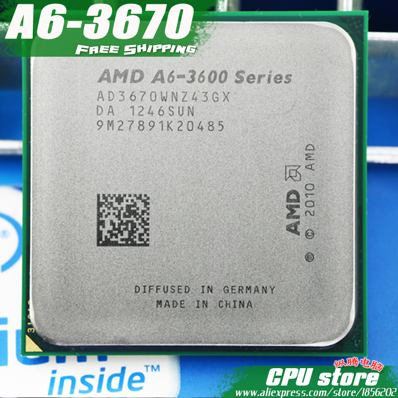 AMD A6 3670K Quad-Core FM1 2.7GHz 4MB 100W CPU processor pieces A6-3670 APU Integrated graphics, sell 3650