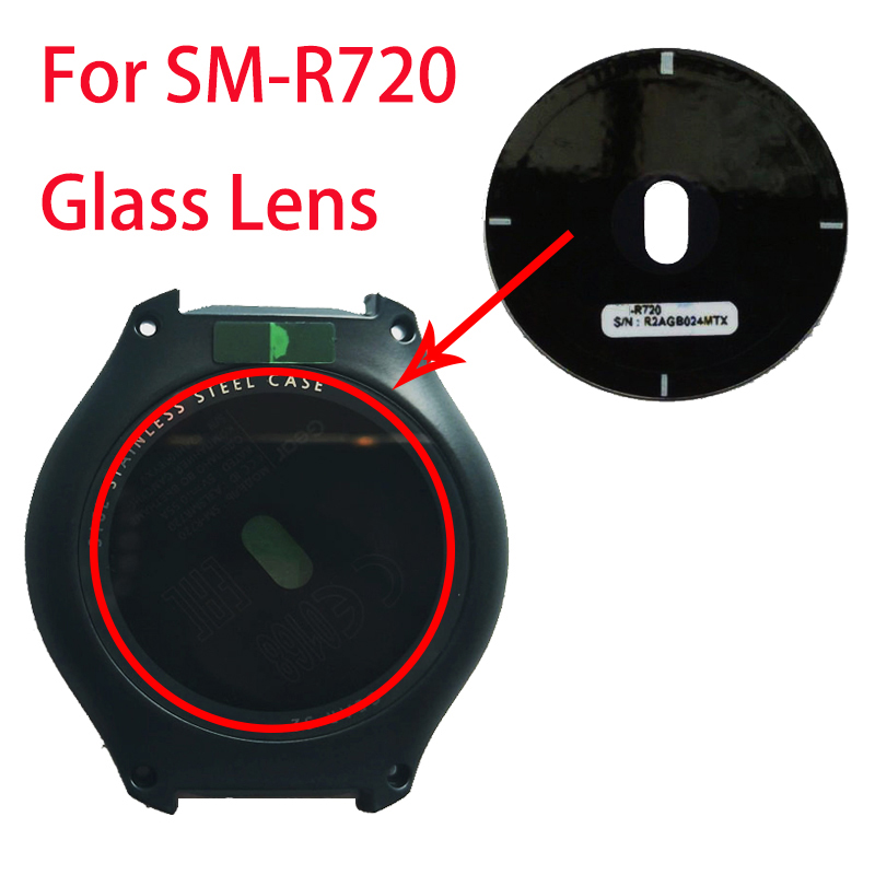 For Samsung Galaxy Gear S2 R720 Watch Glass Battery Cover Lens Rear Housing Back Case Lens+Adhesive
