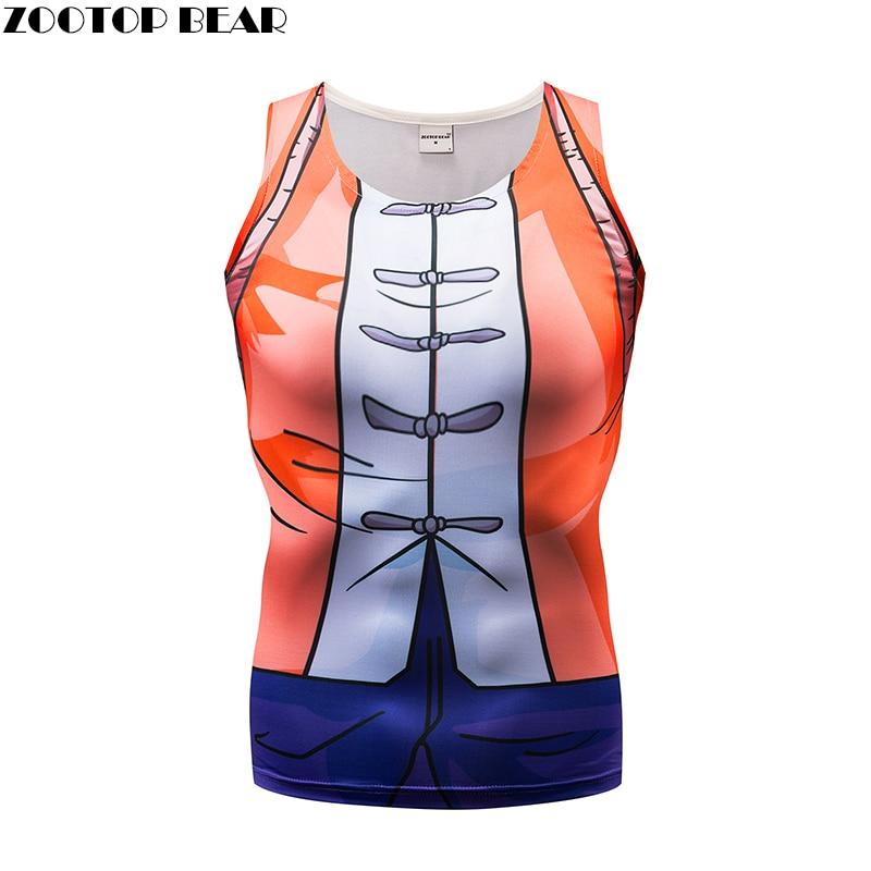 Orange   Tank     Tops   Men Women Vest Female singlet Casual   Tops  &Tees Fitness Chinese Style Bodybuilding Sleeveless Summer ZOOTOP BEAR