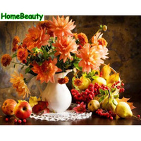 Home Beauty Flowers Pigment Diy Oil Pictures By Numbers Wall Canvas Painting Calligraphy For Living Room