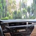 Esquerda-Acessórios de Decoração Interior Do Carro Chrome Oriente Central de Controle de condução Tampa Trims Para Toyota Corolla 2014