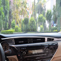 Left-driving Car Interior Decoration Accessories Chrome Middle Central Control Trims Cover For Toyota Corolla 2014