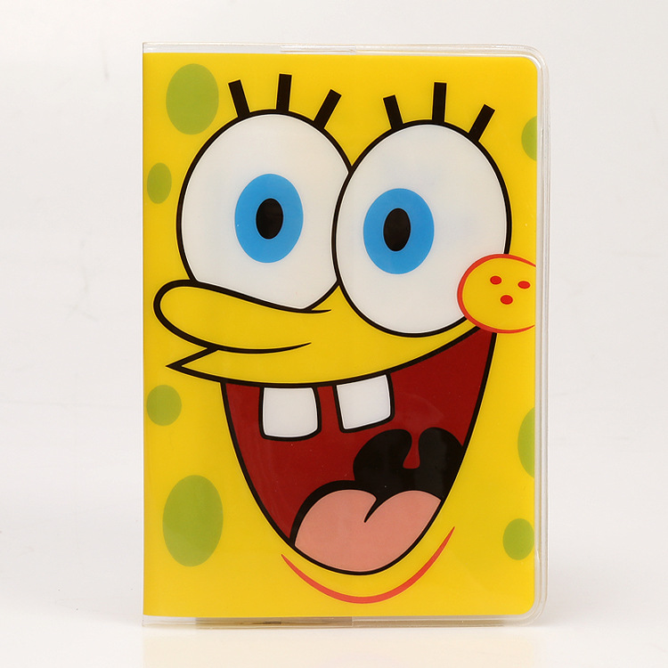 PVC Cartoon Travel Accessories Passport Cover With Size 5.5''*3.8''-Spongebob Squarepants