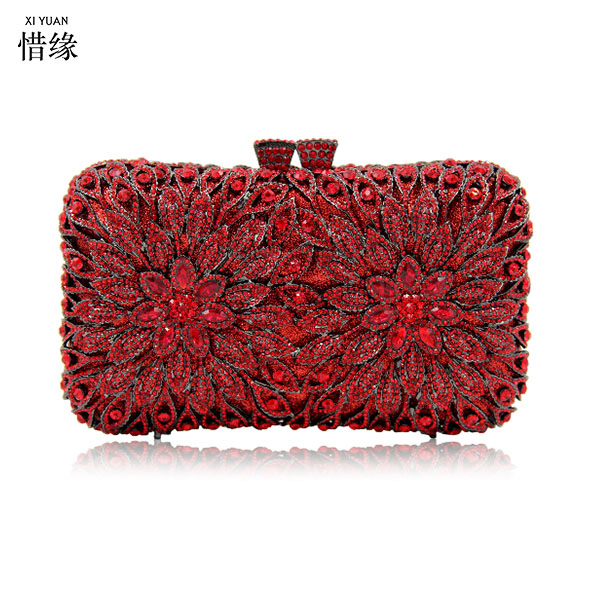 XIYUAN brand New Fashion Luxury gold Crystal Clutches Minaudiere Evening Bag Wedding Party Banquet Women Handbags Bridal Bags XIYUAN brand New Fashion Luxury gold Crystal Clutches Minaudiere Evening Bag Wedding Party Banquet Women Handbags Bridal Bags