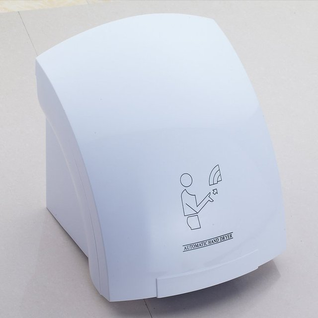 Sensor Pengering Tangan Otomatis Induksi Pengeringan Tangan Mesin Hotel  Kamar Mandi Rumah Bertiup Panas dan Dingin 8c21e3642e