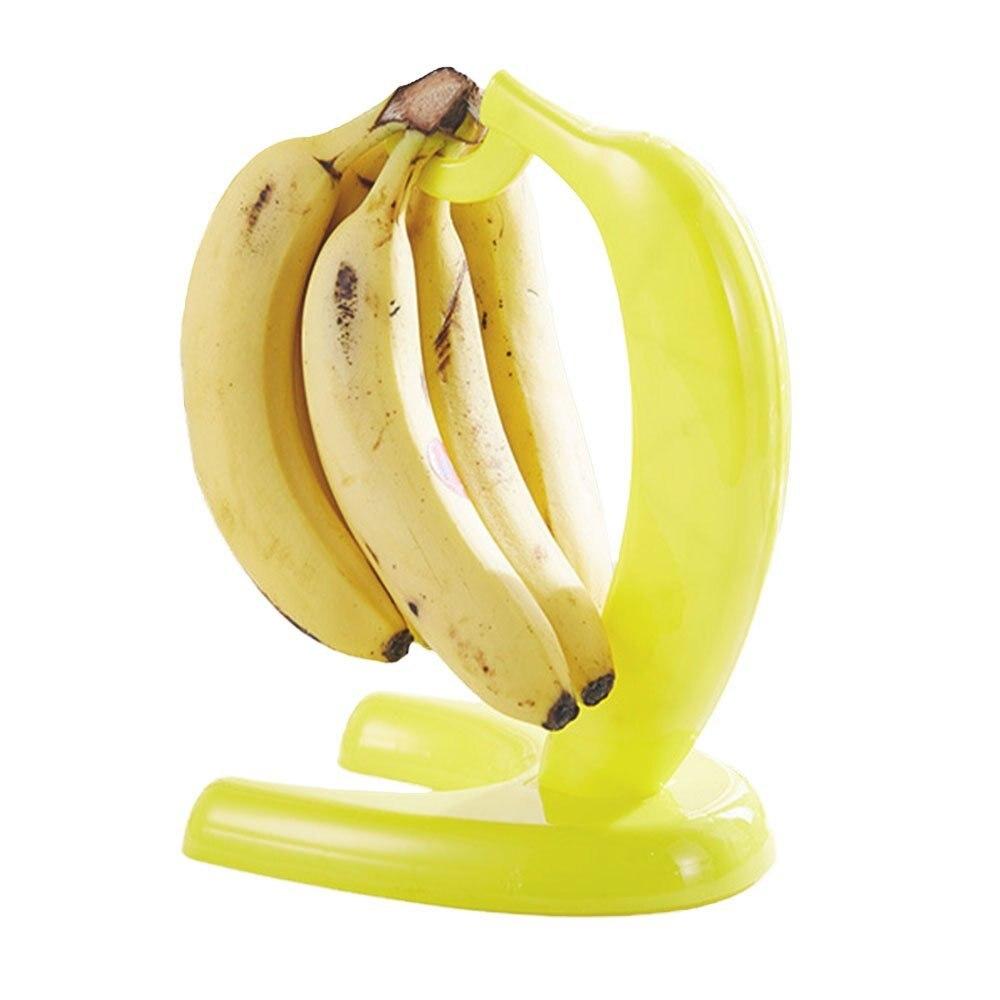 Creative Plastic Banana Hanger Floor Type Fruit Holder Rack Kitchen Storage Organizer